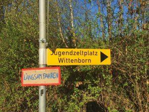 Weg zum Jugendzeltplatz