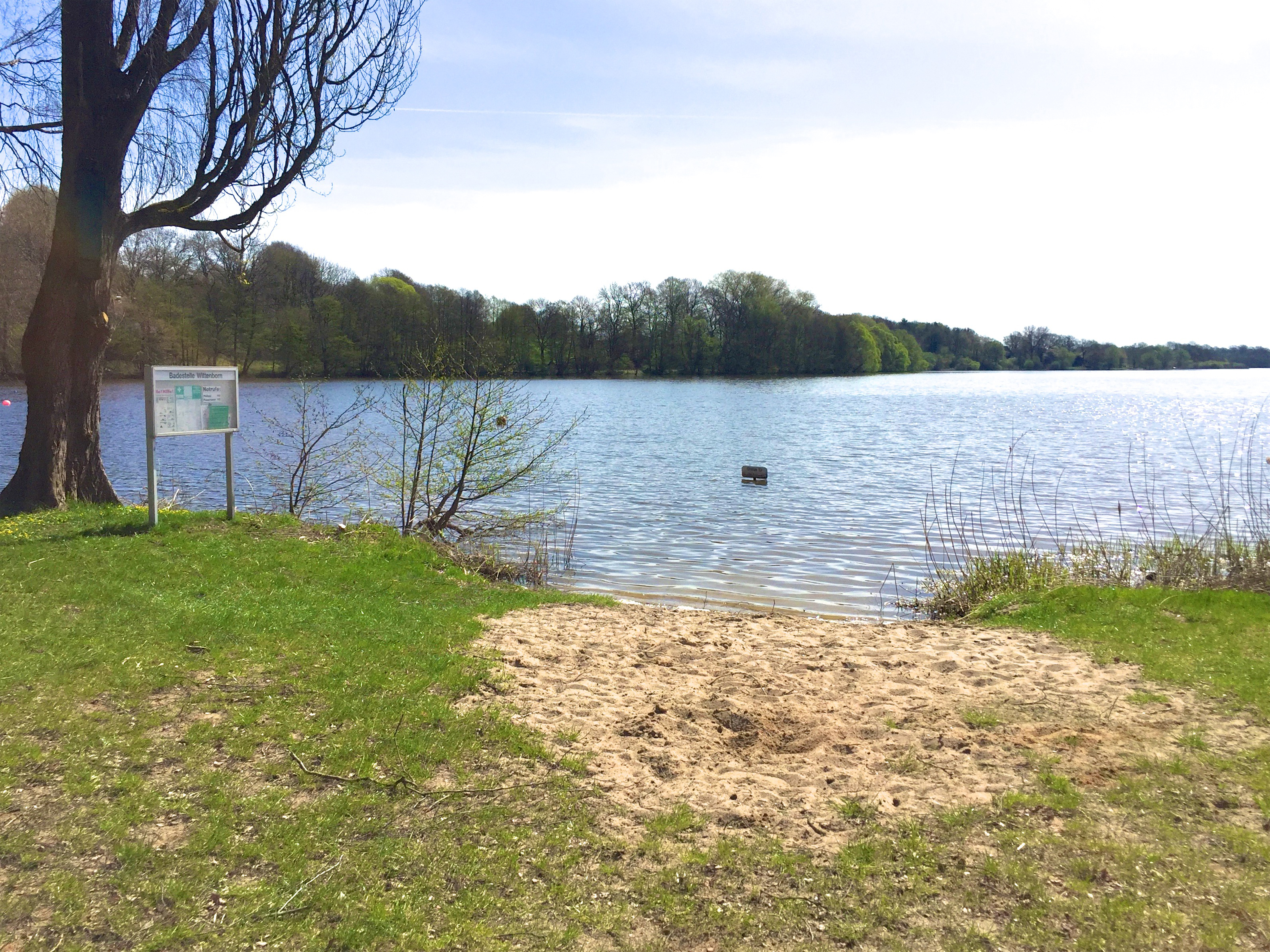 Der wohl kleinste Badestrand Deutschlands :)